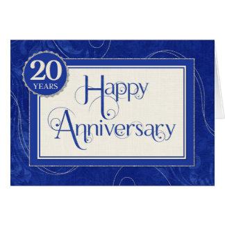 Cartão Aniversário do empregado 20 anos - o texto roda