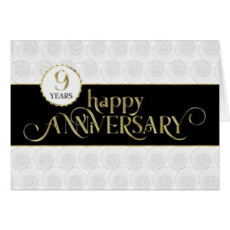 Cartão Aniversário do empregado 9o - ouro preto