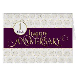 Cartão Aniversário do empregado ø - prestigioso - ouro da