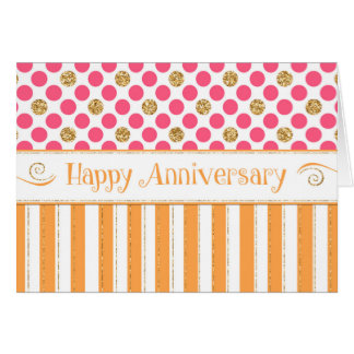 Cartão Aniversário do empregado - rosa alaranjado