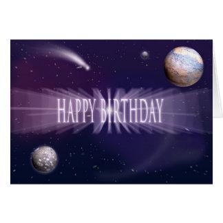 Cartão Aniversário do espaço