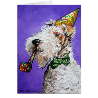 Cartão Aniversário do Fox Terrier