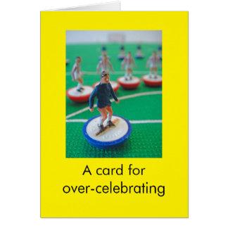 Cartão Aniversário do futebol
