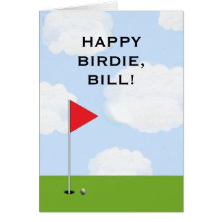 Cartão Aniversário do golfe