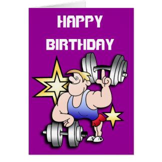 Cartão Aniversário do homem forte
