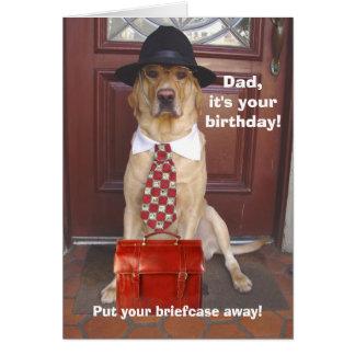 Cartão Aniversário do homem/pai