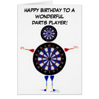 Cartão Aniversário do jogador de dardos