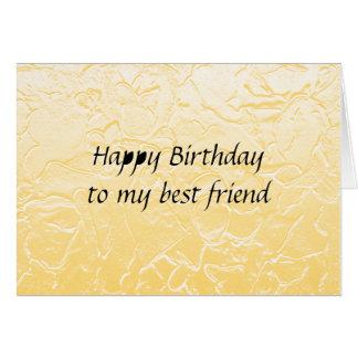Cartão aniversário do melhor amigo