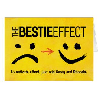 Cartão Aniversário do melhor amigo, o efeito de Bestie