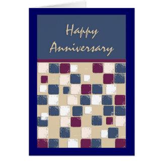 Cartão Aniversário do mosaico da dança quadrada