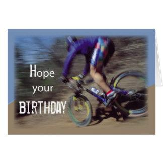 Cartão Aniversário do Mountain bike dos esportes