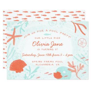 Cartão Aniversário do oceano da aguarela