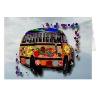 Cartão Aniversário do ônibus do joaninha