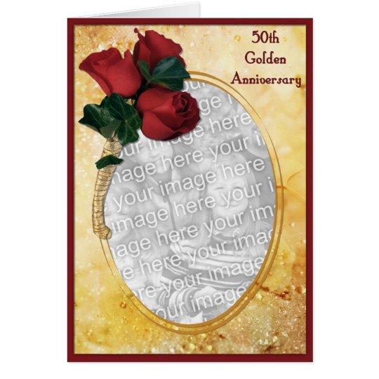 Cartão Aniversário do ouro 50th