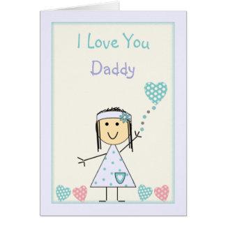 Cartão Aniversário do pai da menina