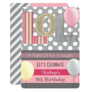Cartão Aniversário do partido de descanso da menina de