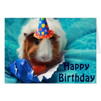 Cartão Aniversário do porco