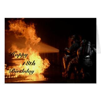 Cartão Aniversário do sapador-bombeiro o 18o