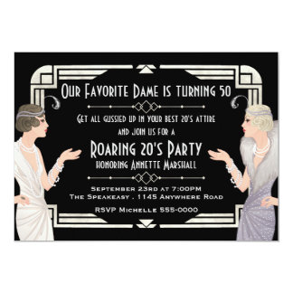 Cartão Aniversário do Speakeasy dos anos 20 rujir