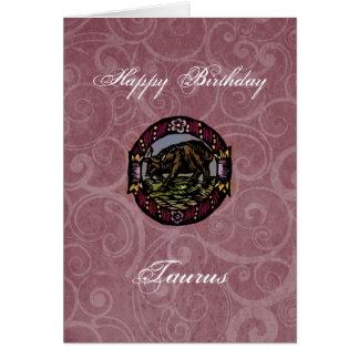 Cartão Aniversário do Taurus