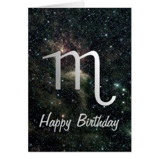 Cartão Aniversário do universo do sinal da estrela do