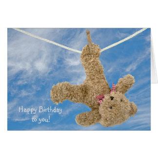 Cartão Aniversário do urso de ursinho