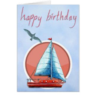 Cartão Aniversário do veleiro