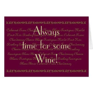 Cartão Aniversário do vinho do vinho das citações do
