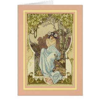 Cartão Aniversário do vintage