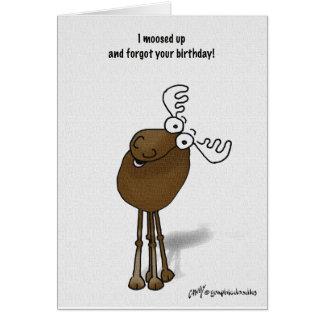 Cartão aniversário dos alces tardivo