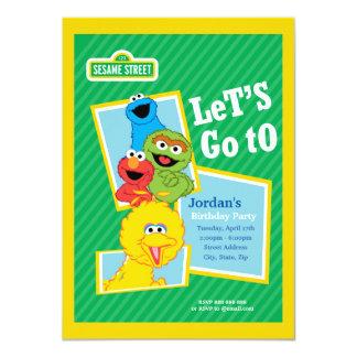 Cartão Aniversário dos amigos do Sesame Street