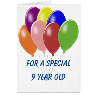 Cartão Aniversário dos balões 9o