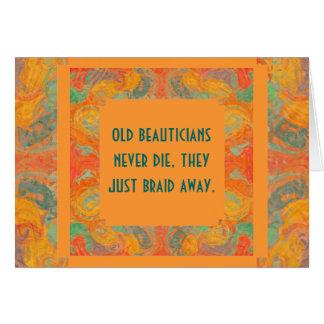 Cartão aniversário dos beauticians