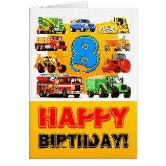 Cartão Aniversário dos caminhões grandes 8o