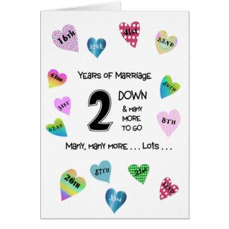 Cartão Aniversário dos corações felizes ò