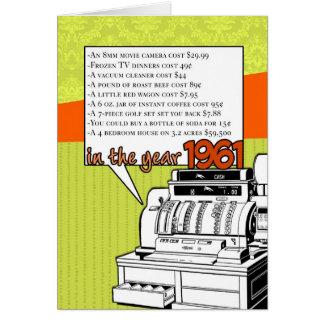 Cartão Aniversário dos fatos de divertimento - custo de
