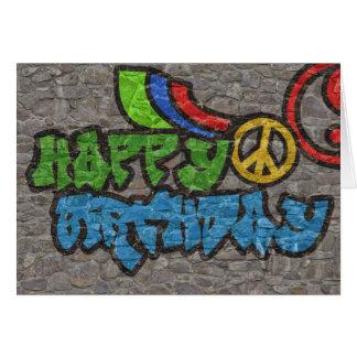 Cartão Aniversário dos grafites