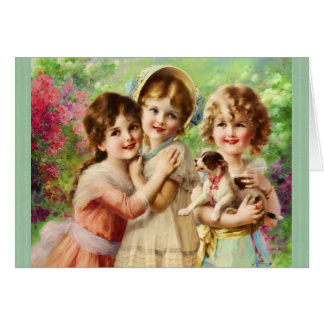 Cartão Aniversário dos melhores amigos das meninas do