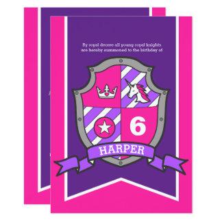 Cartão Aniversário dos miúdos do protetor dos cavaleiros