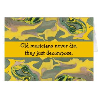 Cartão aniversário dos músicos
