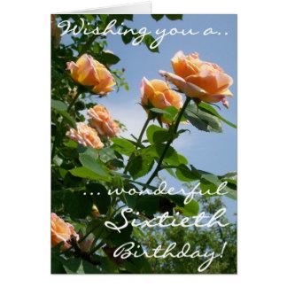 Cartão Aniversário dos rosas cor-de-rosa bonitos do