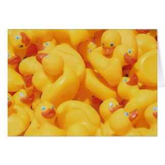 Cartão Aniversário Ducky de borracha