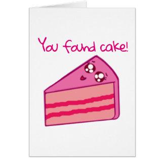 Cartão Aniversário encontrado do bolo