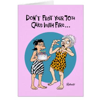Cartão Aniversário engraçado do 70
