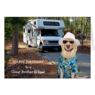 Cartão Aniversário engraçado do cunhado