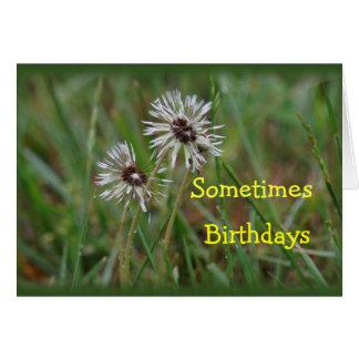Cartão Aniversário engraçado do dente-de-leão - mude para