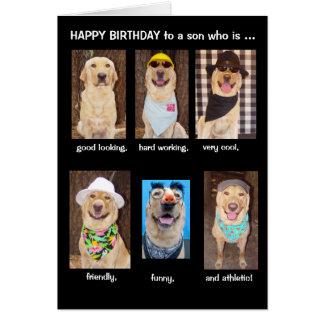 Cartão Aniversário engraçado do filho