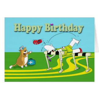 Cartão Aniversário engraçado do obstáculo