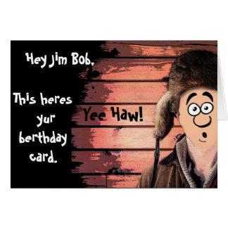 Cartão Aniversário engraçado dos desenhos animados do