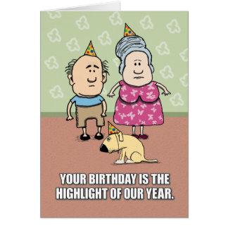 Cartão Aniversário engraçado: Não realmente pessoas do